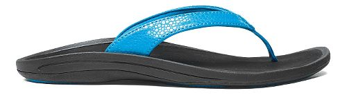 Womens OluKai Kulapa Kai Sandals Shoe - Aqua/Black 7