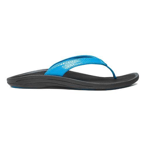 Womens OluKai Kulapa Kai Sandals Shoe - Aqua/Black 9