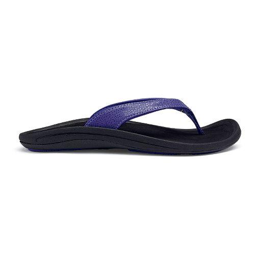 Womens OluKai Kulapa Kai Sandals Shoe - Deep Violet/Black 5