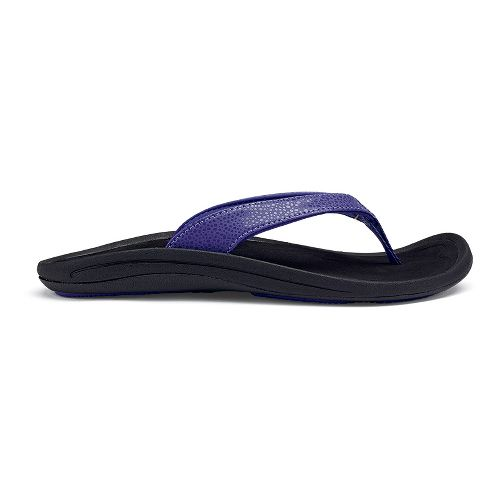 Womens OluKai Kulapa Kai Sandals Shoe - Deep Violet/Black 6