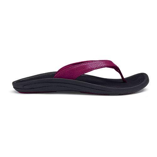Womens OluKai Kulapa Kai Sandals Shoe - Pokeberry/Black 8