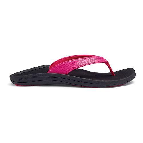 Womens OluKai Kulapa Kai Sandals Shoe - Fuchsia/Black 11