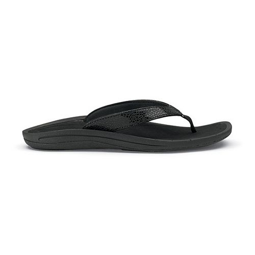 Womens OluKai Kulapa Kai Sandals Shoe - Black/Black 7