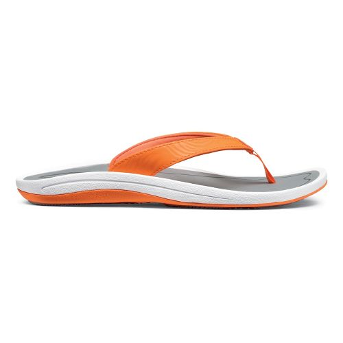 Womens OluKai Kulapa Kai Sandals Shoe - Blaze/Grey 5