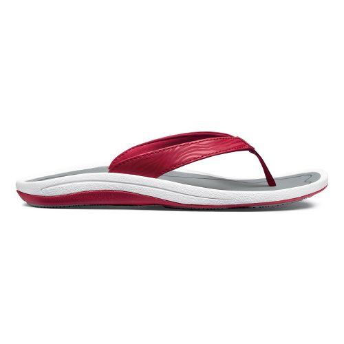 Womens OluKai Kulapa Kai Sandals Shoe - Crimson Red/Grey 10