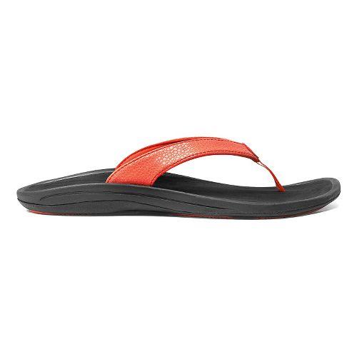 Womens OluKai Kulapa Kai Sandals Shoe - Coral/Black 5