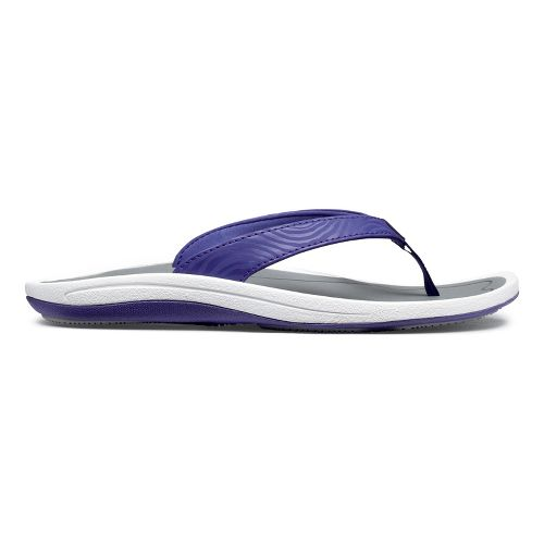Womens OluKai Kulapa Kai Sandals Shoe - Deep Purple/Grey 5