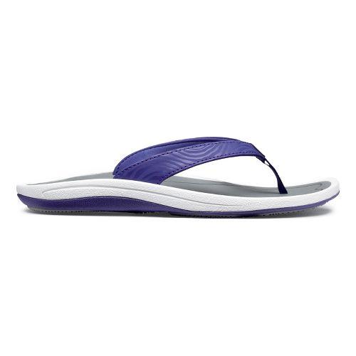 Womens OluKai Kulapa Kai Sandals Shoe - Deep Purple/Grey 6