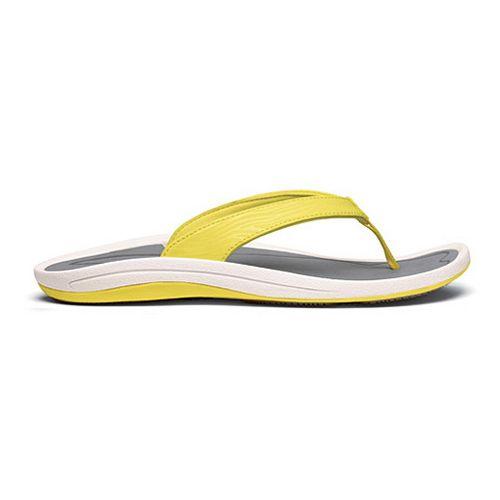 Womens OluKai Kulapa Kai Sandals Shoe - Lemon/Grey 6
