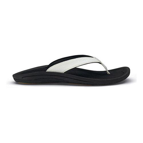 Womens OluKai Kulapa Kai Sandals Shoe - White/Black 8