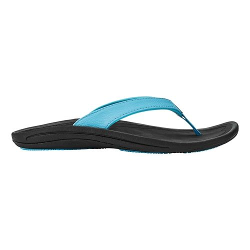 Womens OluKai Kulapa Kai Sandals Shoe - Aqua/Black 10