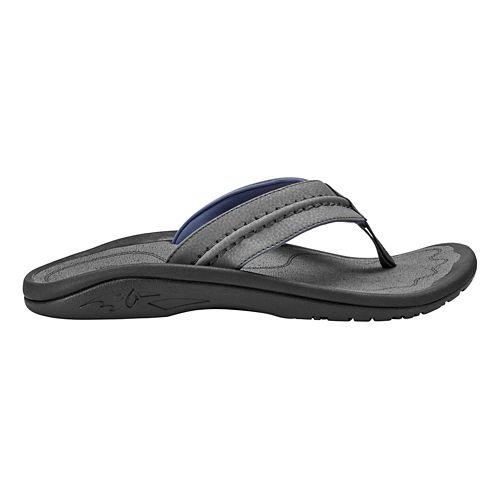 Mens OluKai Hokua Sandals Shoe - Charcoal/Charcoal 10