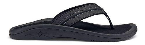 Mens OluKai Hokua Sandals Shoe - Black/Grey 12