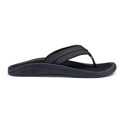 Mens OluKai Hokua Sandals Shoe - Black/Grey 12