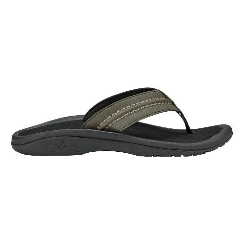 Mens OluKai Hokua Sandals Shoe - Kona/Black 14