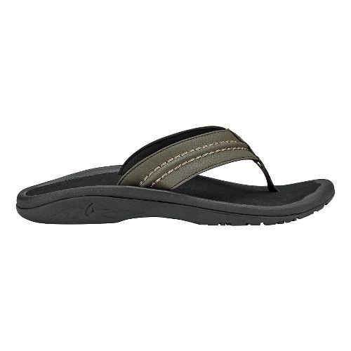 Mens OluKai Hokua Sandals Shoe - Kona/Black 9