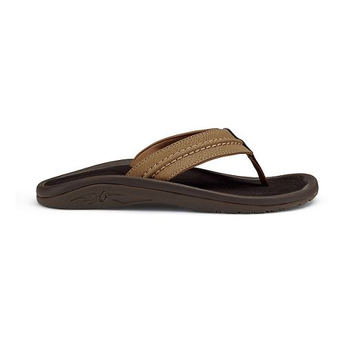 Mens OluKai Hokua Sandals Shoe - Black/Grey 14