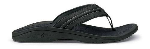 Mens OluKai Hokua Sandals Shoe - Black/Grey 7