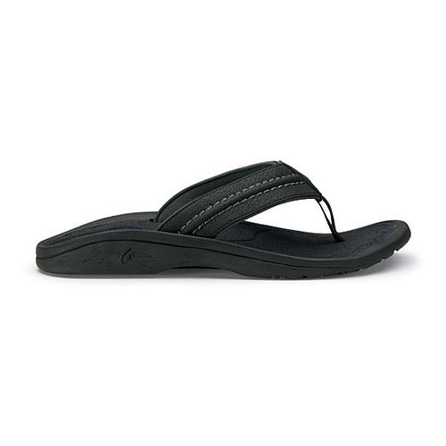 Mens OluKai Hokua Sandals Shoe - Black/Grey 7