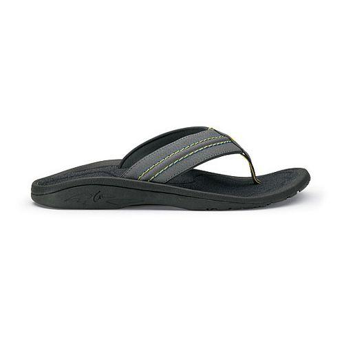 Mens OluKai Hokua Sandals Shoe - Charcoal/Dark Slate 9
