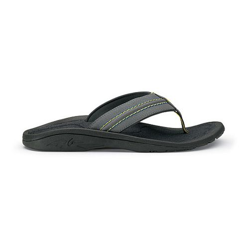 Mens OluKai Hokua Sandals Shoe - Charcoal/Dark Shadow 15