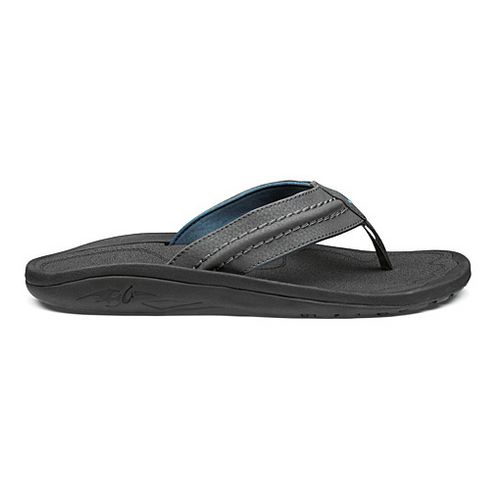 Mens OluKai Hokua Sandals Shoe - Dark Shadow/Dark Shadow 8