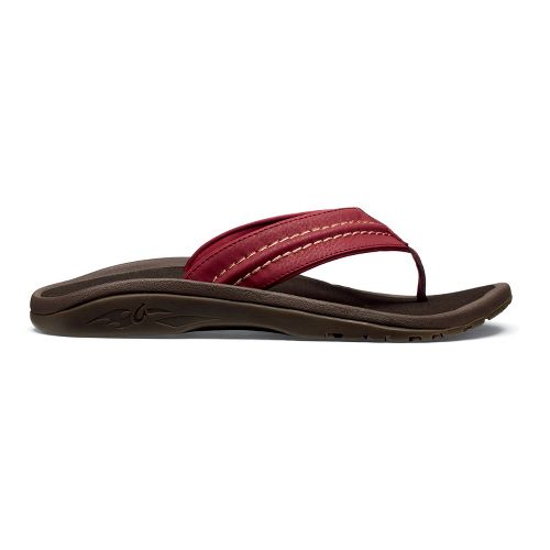 Mens OluKai Hokua Sandals Shoe - Red Earth/Java 13