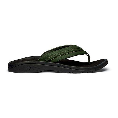 Mens OluKai Hokua Sandals Shoe - Rosin/Black 8