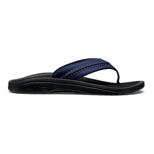 Mens OluKai Hokua Sandals Shoe - Trench Blue/Black 12