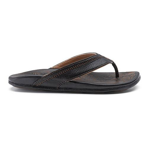 Mens OluKai Hiapo Sandals Shoe - Black/Black 12