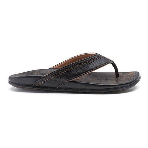 Mens OluKai Hiapo Sandals Shoe - Black/Black 13