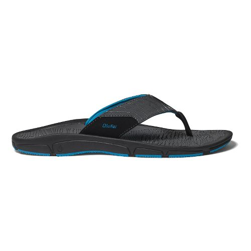 Mens OluKai Kai Ko Sandals Shoe - Black/Scuba 8