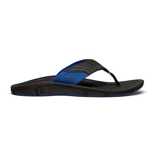 Mens OluKai Kai Ko Sandals Shoe - Black/Blue 10