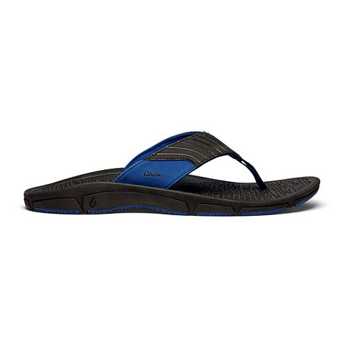 Mens OluKai Kai Ko Sandals Shoe - Black/Blue 9