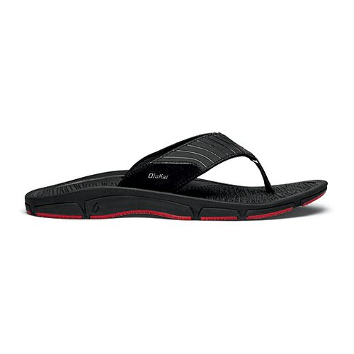 Mens OluKai Kai Ko Sandals Shoe - Black/Red 9