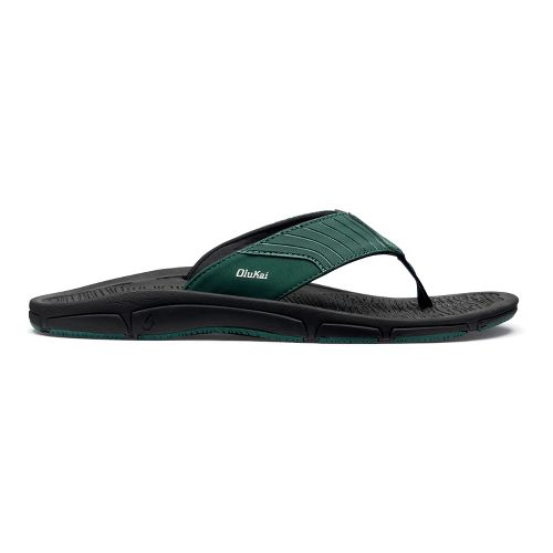Mens OluKai Kai Ko Sandals Shoe - Malachite/Black 10