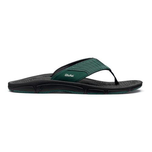 Mens OluKai Kai Ko Sandals Shoe - Malachite/Black 14