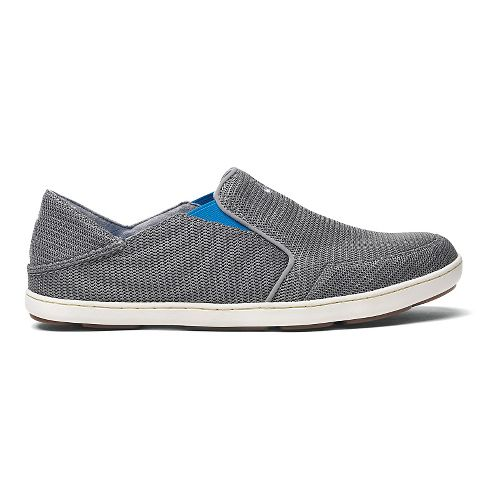 Mens OluKai Nohea Mesh Casual Shoe - Grey/Scuba 11.5