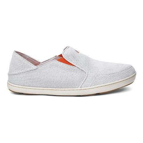 Mens OluKai Nohea Mesh Casual Shoe - White/White 8.5