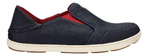 Mens OluKai Nohea Mesh Casual Shoe - Navy/Red 10.5