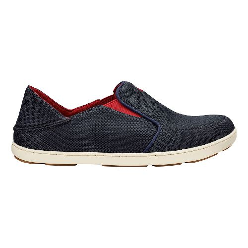 Mens OluKai Nohea Mesh Casual Shoe - Navy/Red 10.5