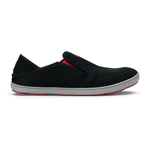 Mens OluKai Nohea Mesh Casual Shoe - Black/Black 10