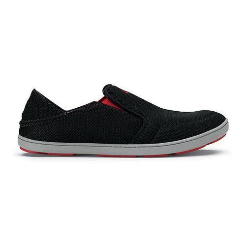 Mens OluKai Nohea Mesh Casual Shoe - Black/Black 11.5