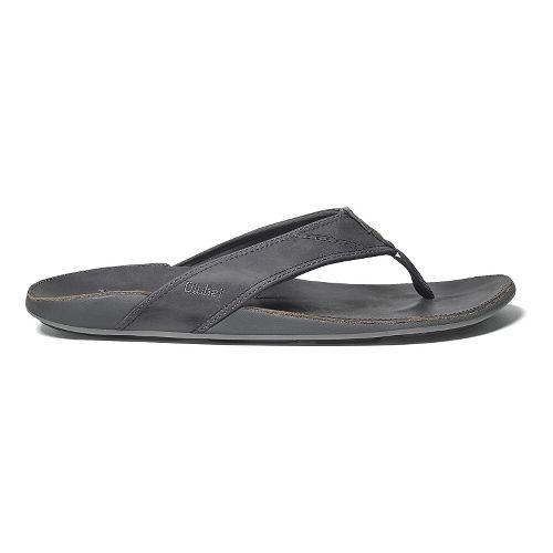 Mens OluKai Nui Sandals Shoe - Shadow/Shadow 11