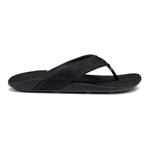 Mens OluKai Nui Sandals Shoe - Onyx 14