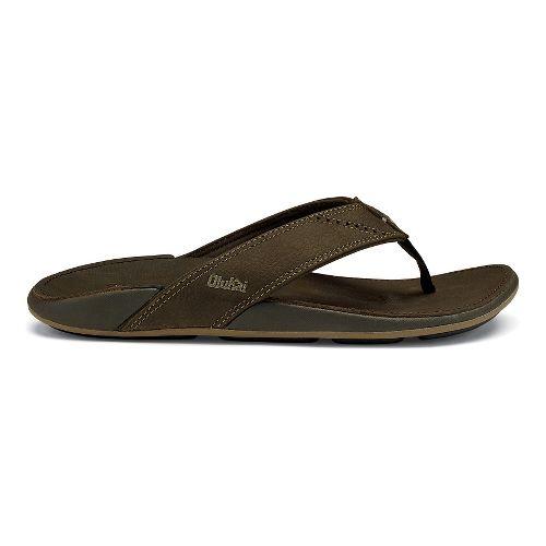 Mens OluKai Nui Sandals Shoe - Seal Brown 8