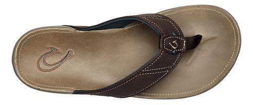Mens OluKai Nui Sandals Shoe - Dark Wood/Clay 10