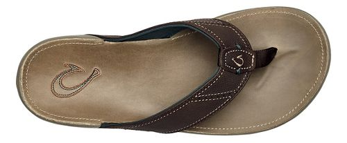 Mens OluKai Nui Sandals Shoe - Dark Wood/Clay 14