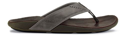 Mens OluKai Nui Sandals Shoe - Chocolate/Dark Java 9