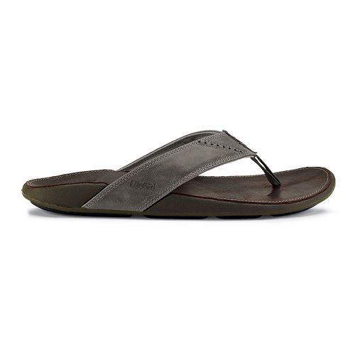 Mens OluKai Nui Sandals Shoe - Chocolate/Dark Java 12